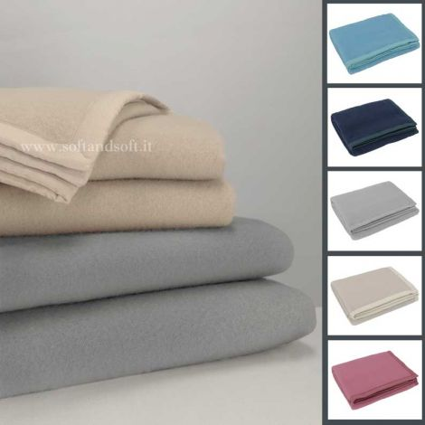 DIANA double blanket in pure virgin wool SOMMA 210x250 cm