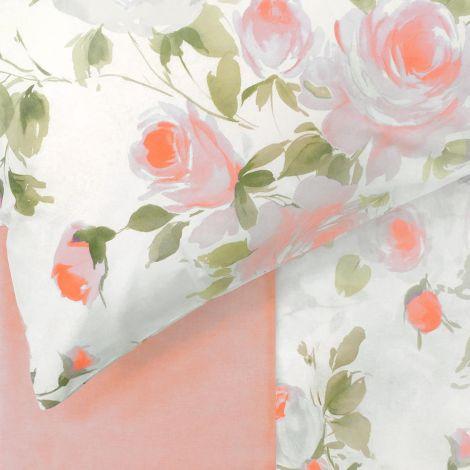 ELEGANCE Completo Lenzuola Misura MATRIMONIALE MAXI Puro Cotone GABEL-Fiore di Pesco