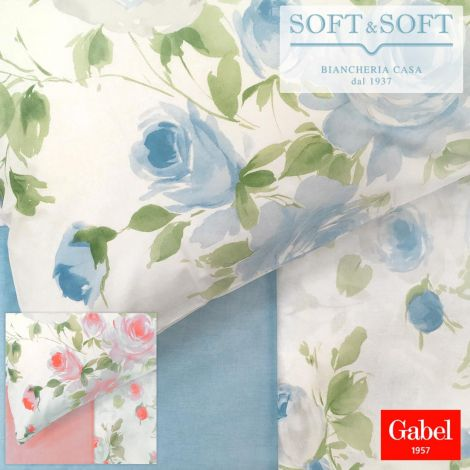 ELEGANCE Sheet set for DOUBLE bed MAXI size in pure cotton by GABEL