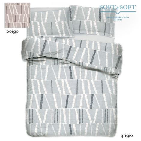 RODI ART.6/6B Duvet Cover Parure DOUBLE Bed in Pure Cotton Percale