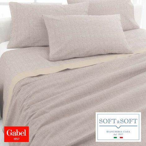 ESSENZIALE Copriletto Estivo in Piquet di Cotone per letto Singolo GABEL-Noce