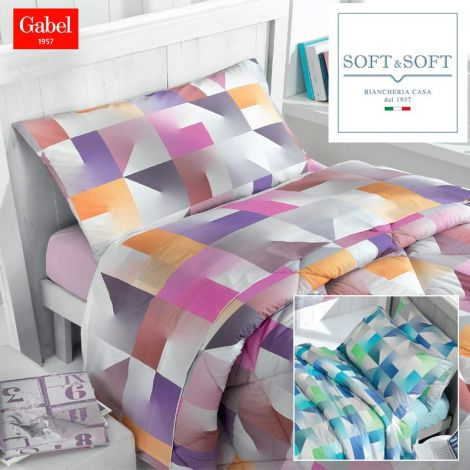 Evolution duvet cover for modern single bed Gabel