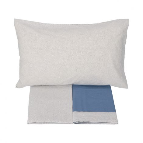 FARAH completo lenzuola SINGOLO stampato VALLESUSA-Blu
