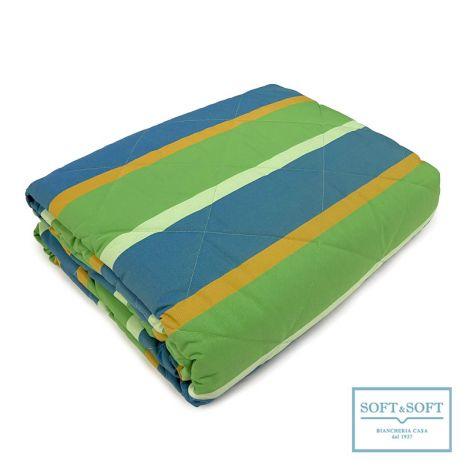 FARNESE copriletto trapuntato MATRIMONIALE 265x260 ignifugo - Verde
