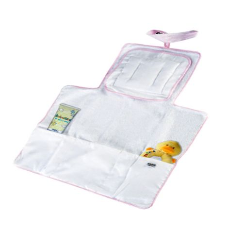 Travel changing mat with cushion for baby