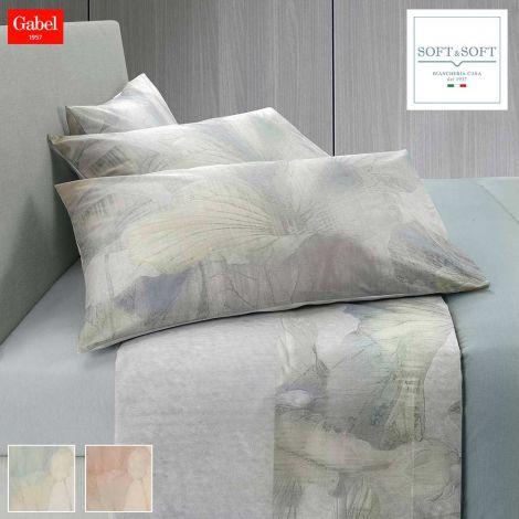 FEUILLES completo lenzuola matrimoniale in flanella di cotone GABEL