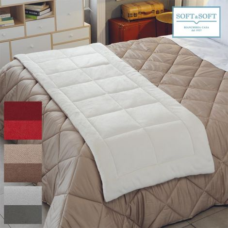 FIOCCO DI LUNA runner quilted pile SINGLE bed size 70x160