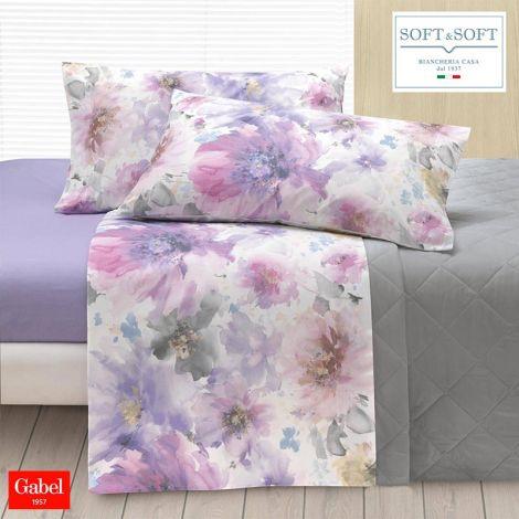 lenzuola fiori viola lilla