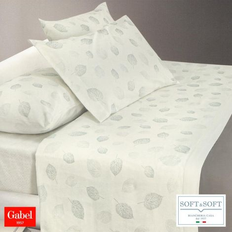 PERLAGE complete sheets FLANNEL double bed 240X285 Gabel-Soffio