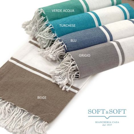 ST. TROPEZ Fouta Pure Cotton Beach Towel cm 100x200