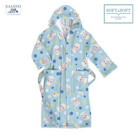 FROZEN CRISTALLI Hooded Bathrobe for baby Caleffi