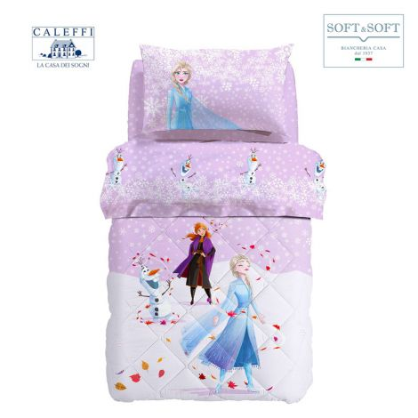 FROZEN MAGICA winter quilt for SINGLE cotton Disney by CALEFFI