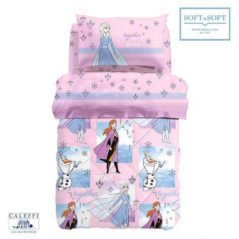 FROZEN DREAMS winter quilt for SINGLE cotton Disney by CALEFFI