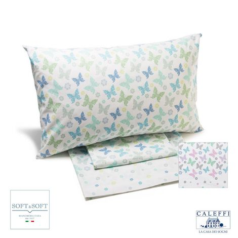 GAIA sheet set for three-quarter bed by Caleffi