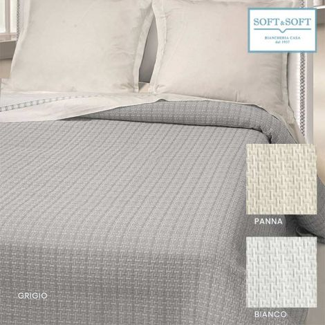 GEO single bedspread in matelassé jacquarde fabric cm 170x260