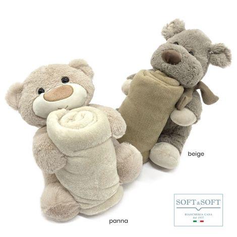 GIGIO puppet with 90x70 fleece blanket