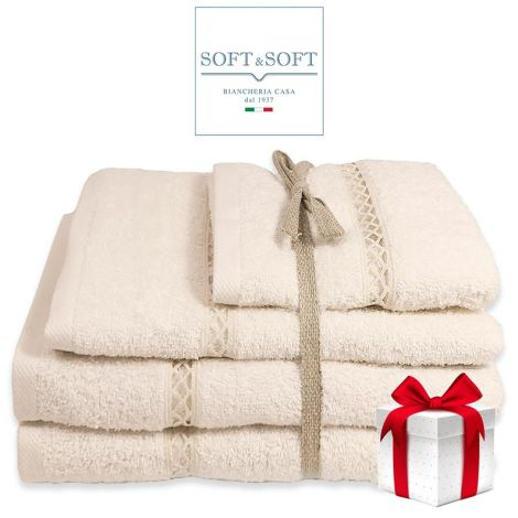 GIGLIUCCIO towel set 3 Pieces (Face + towel + guest)