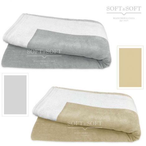 GLAMOUR chenilla beach towel pure cotton cm 86x175