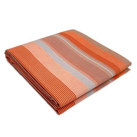 GRAFISMI copriletto estivo misura MATRIMONIALE in piquet di cotone GABEL -Arancio