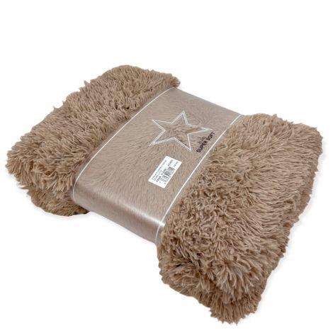 HIMALAYA plaid in pelliccia ecologica cm 130x160-Tortora