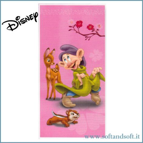 CUCCIOLO Seven Dwarfs Beach Towel cm 75x150 Disney