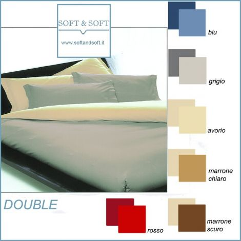 DOUBLE DOUBLE-FACED Parure Duvet Cover Set for single beds
