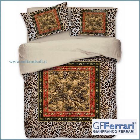 Trapunta matrimoniale leopardata animalier raso luxury invernale