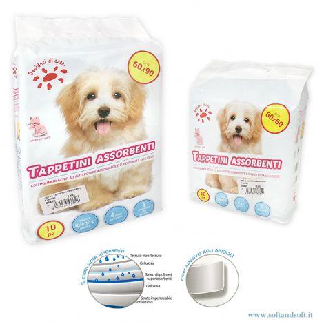 PET Tappetini Assorbenti per cani e gatti Pz 10 cm 60x60 (o 60x90)