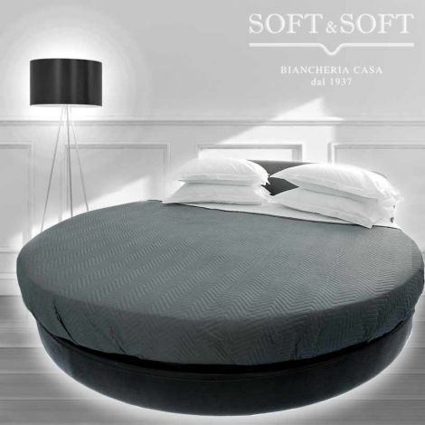 ROTONDO Soffio lenzuola rotonde da Sotto con Elastico per letto rotondo