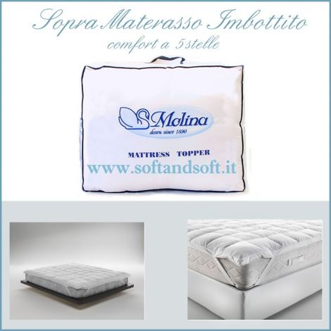 TOP MATTRESS Topper for double bed cm180x200