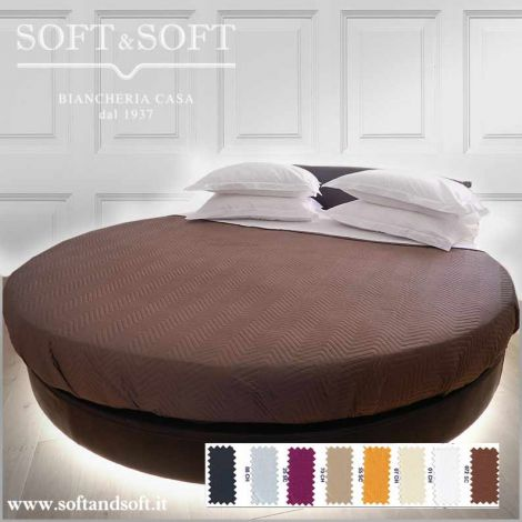 ROUND SATIN Quilted Bedcover for Round Bed Pure Cotton