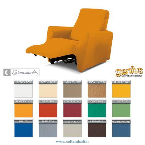copri poltrona reclinabile elasticizzato universale tanti colori