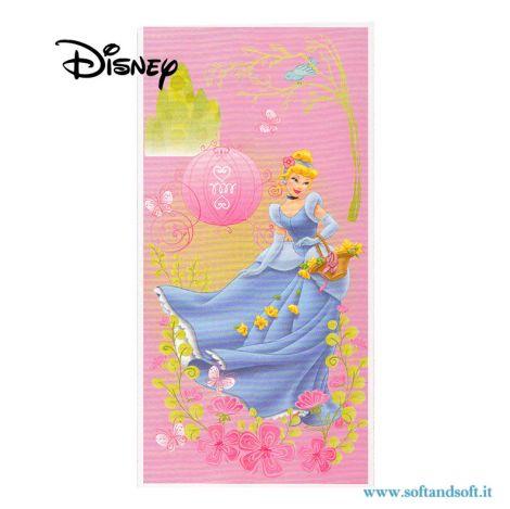 CINDERELLA Princess Beach Towel cm 75x150 Disney for beach and pool
