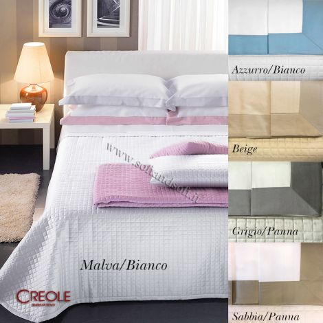 MARRAKECH Set for double Bed Sheets + Bedcover Creole Satin