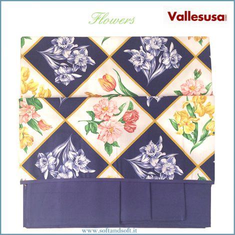 FLOWERS Tovaglia per 8 con tovaglioli cm 150x220 Vallesusa 524938