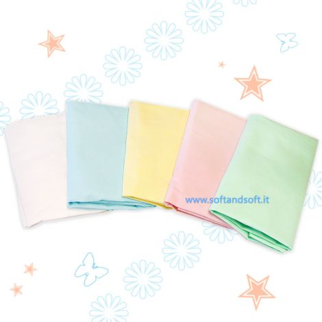 STELLINA Plain Fitted sheet for cots cm 65x130