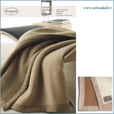 TANGERI Camel blanket for double bed - SOMMA