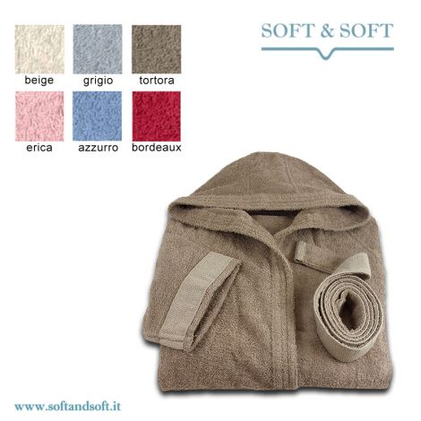 CHROMO Hooded Bathrobe with pockets by GABEL Size M