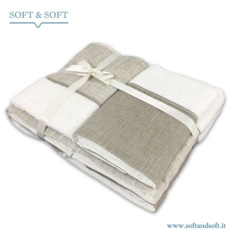 BALZA LINO WHITE Towel set 4 Items 400gr/sm