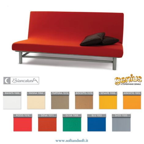 Genius 4D QUEEN three-place Sofa Cover without arm Biancaluna
