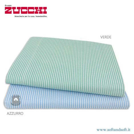 STRIPE Pure Cotton Top Sheet for Double Bed by ZUCCHI