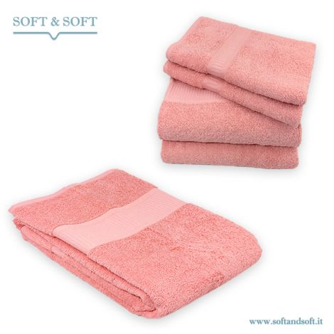 SOFT Bath Towels Set 5 pcs Pure Cotton