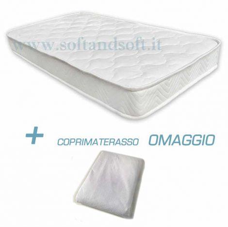 Materasso per lettino sponde FOAM BABY ignifugo cm 60x120x12 + Coprimaterasso OMAGGIO