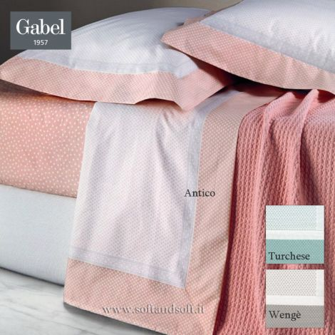I SEGRETI Pure Percale Cotton Sheet Set for Double Bed GABEL