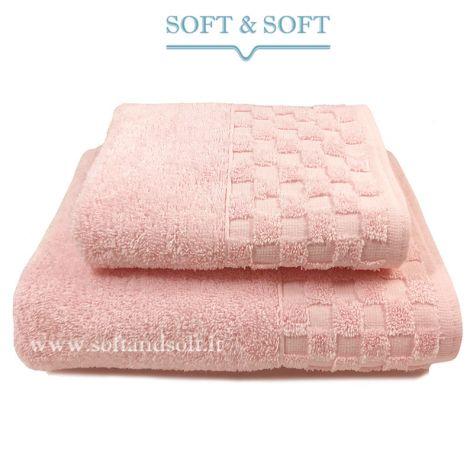 Check Coppia Asciugamani 1+1 500 gr/m² Rosa