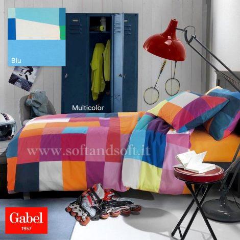 copripiumino a fantasia a scacchettoni colorati letto singolo Gabel