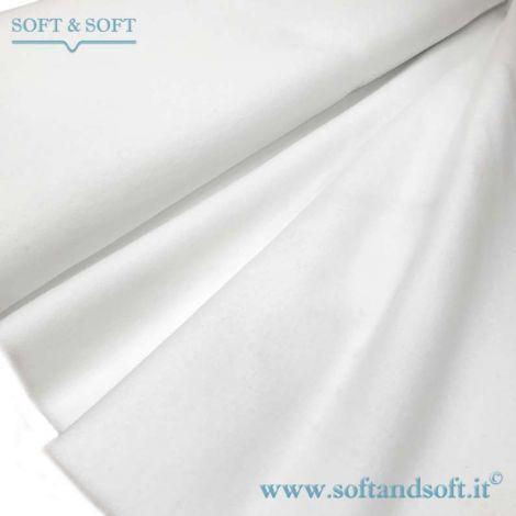MOLLETTONE in cotone Bianco a metraggio altezza cm 120 Prodotto Italiano