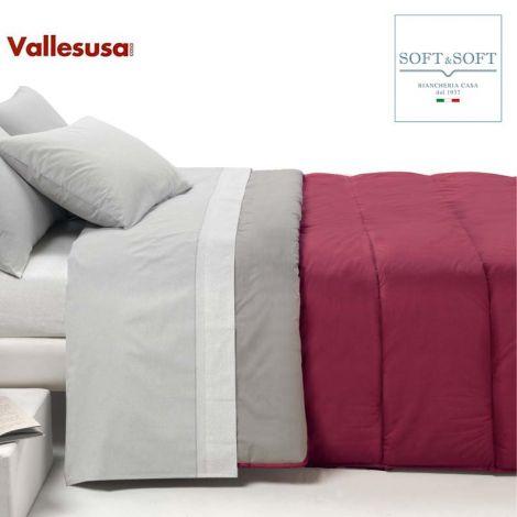 INSIDE trapunta piumone letto da una piazza e mezza Vallesusa invernale cm 220x260-Bordeaux