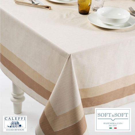 ITALY kitchen tablecloth 150x240 cm in pure cotton-Naturale