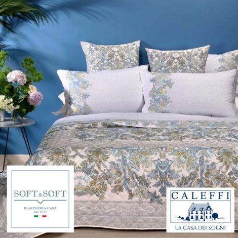 JAKARTA lenzuola matrimoniali stampa digitale Caleffi-Blu